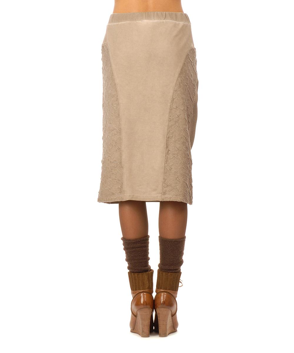 destructured fashion beige asymmetric zip midi skirt zulily