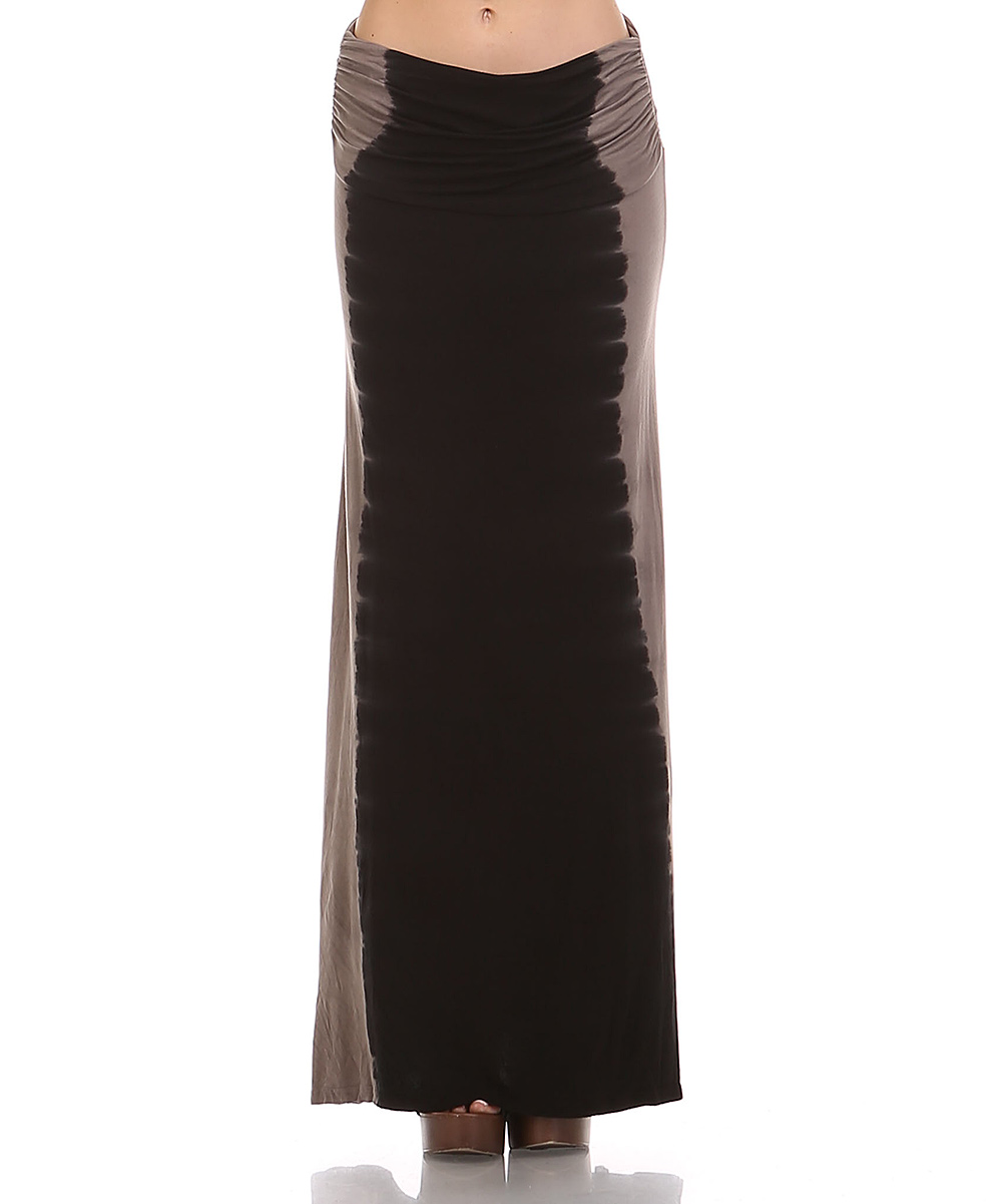 cottyon black mahogany tie dye convertible maxi skirt