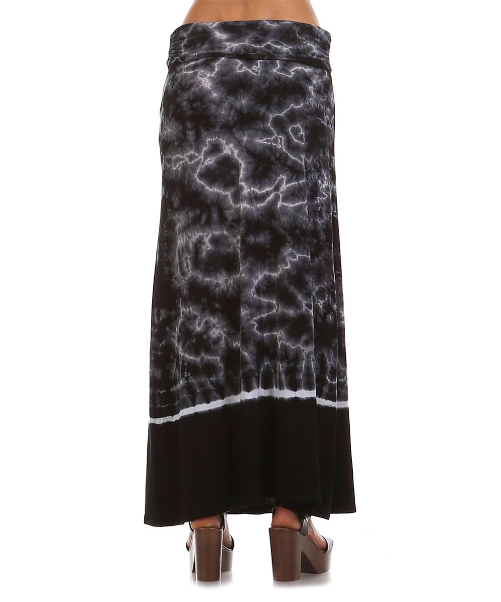 x black white tie dye cloud maxi skirt zulily