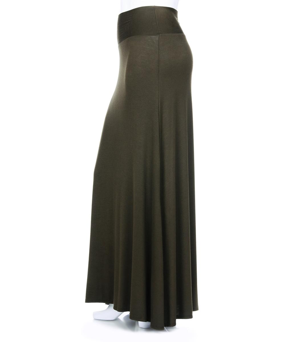 urim apparel olive maxi skirt plus zulily