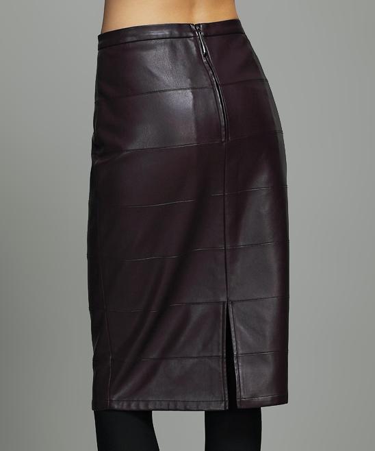 vanillachocolate wine pencil skirt zulily