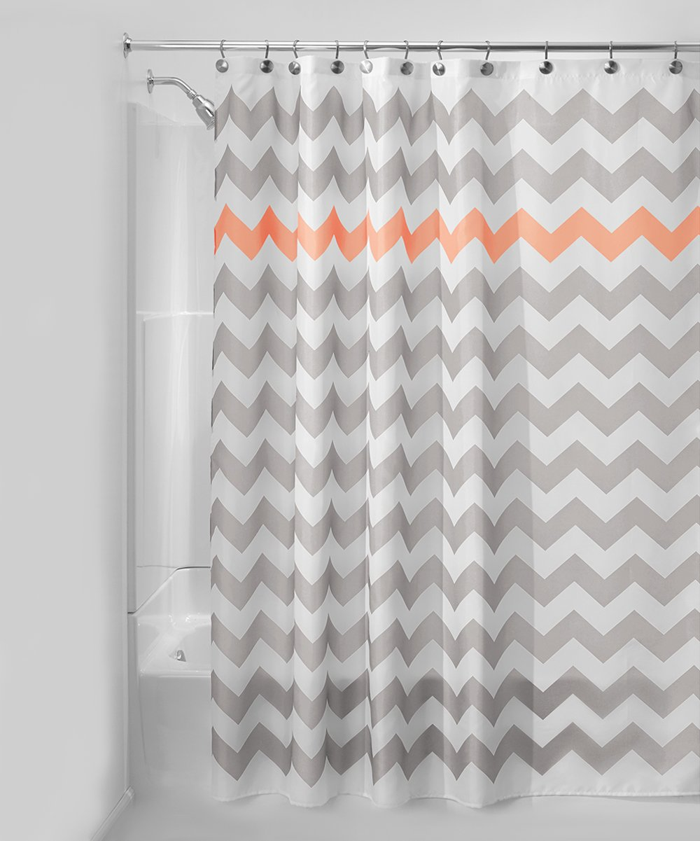 Light Gray Orange Chevron Shower Curtain Zulily