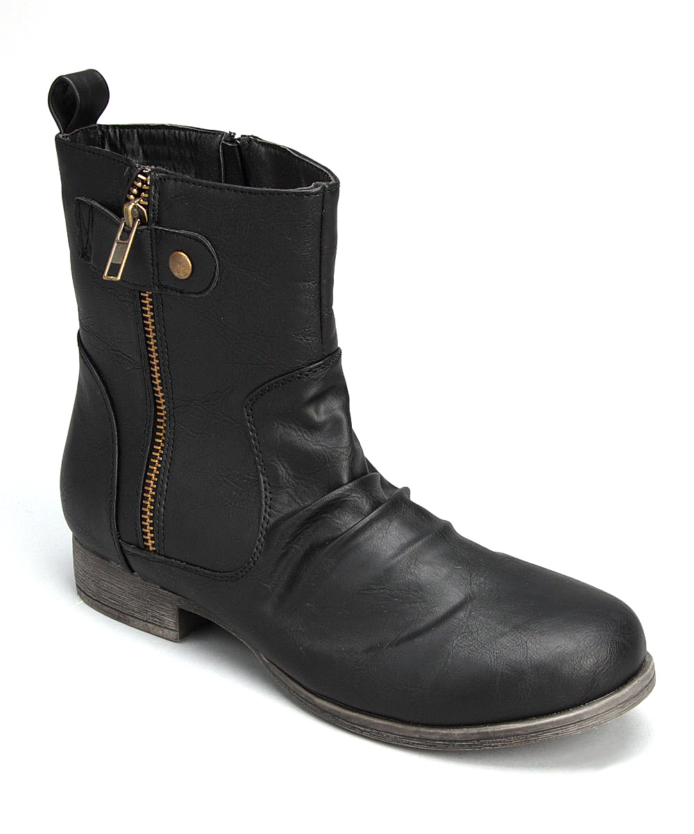 shoes of soul black zipper ankle boot zulily