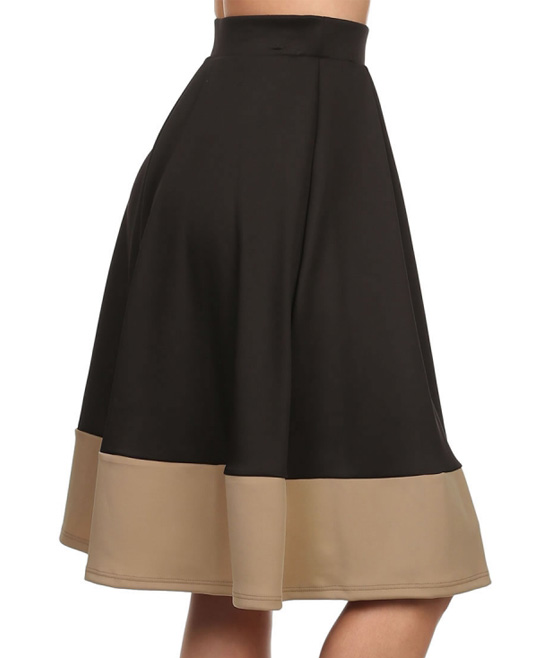 status array black beige stripe a line skirt zulily