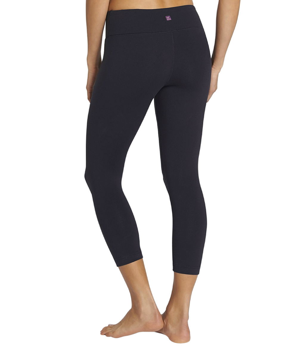 Zobha Black Capri Leggings Zulily