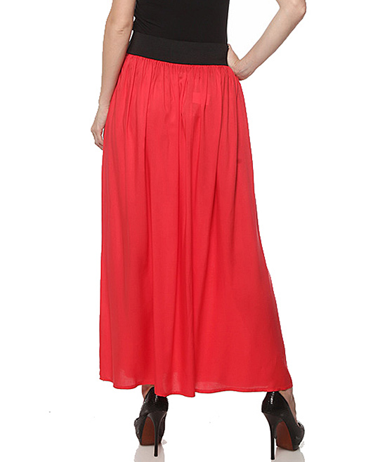 coral bow maxi skirt zulily