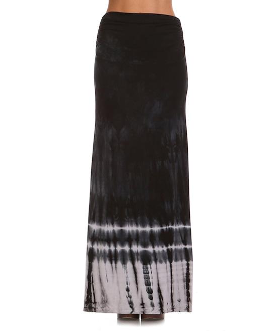 x black white tie dye maxi skirt zulily