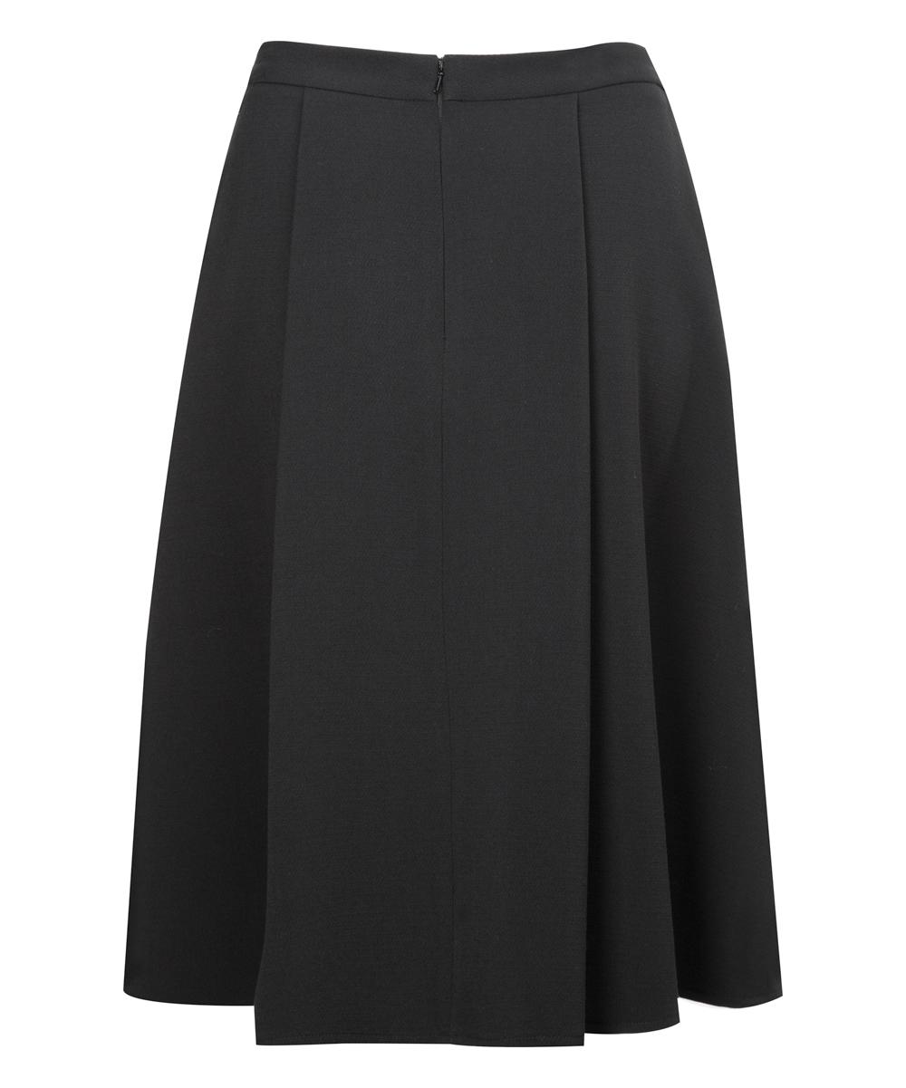 dex black pleated a line skirt zulily