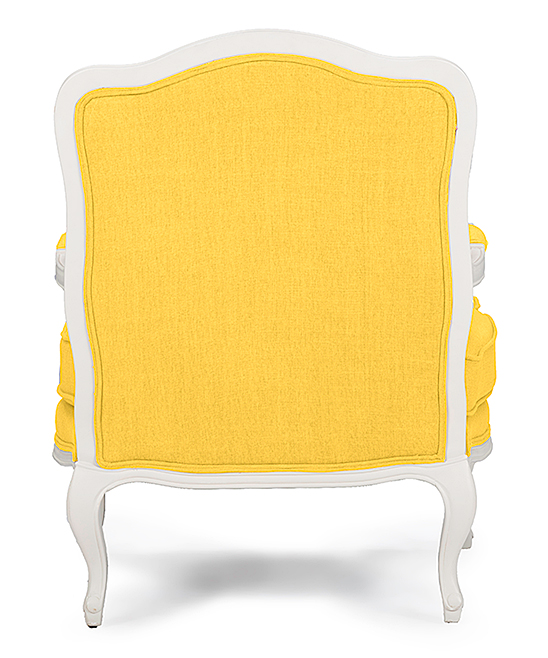 Baxton Studio Yellow Fabric French Accent Chair
