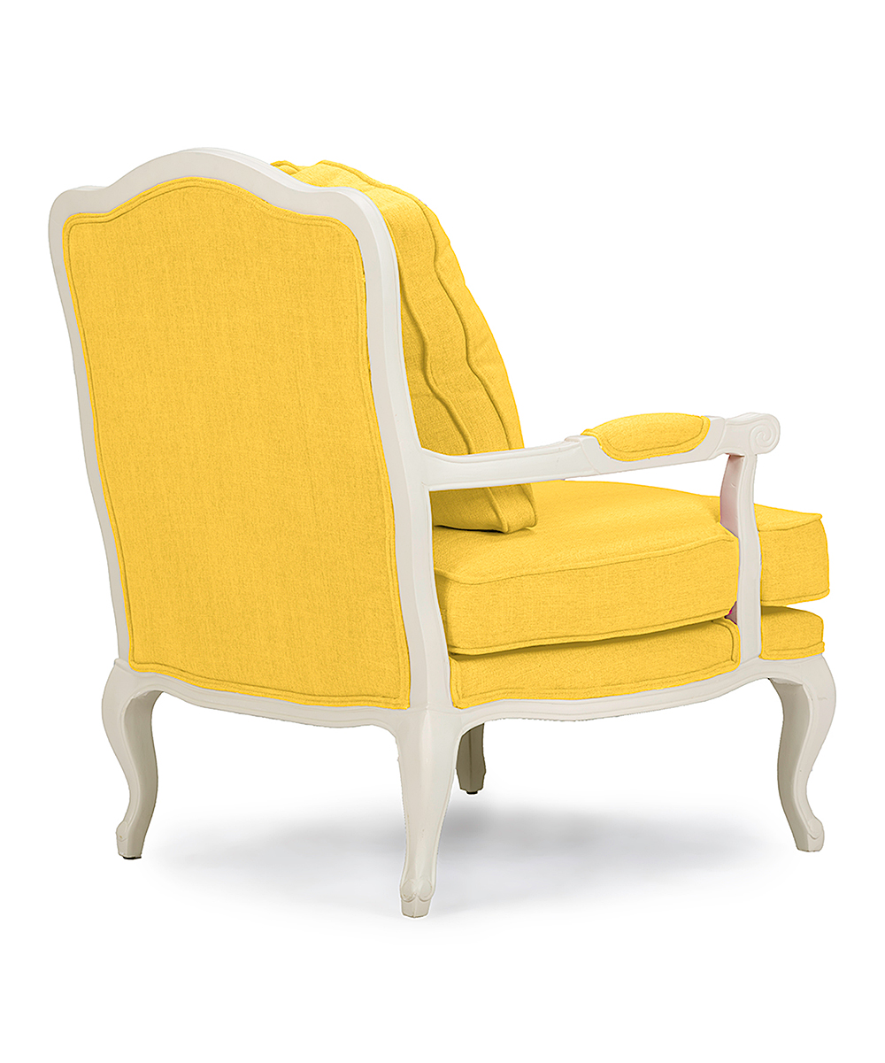 Baxton Studio Yellow Fabric French Accent Chair Zulily