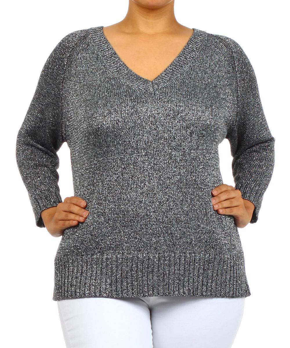 V Neck Sweater Plus 23