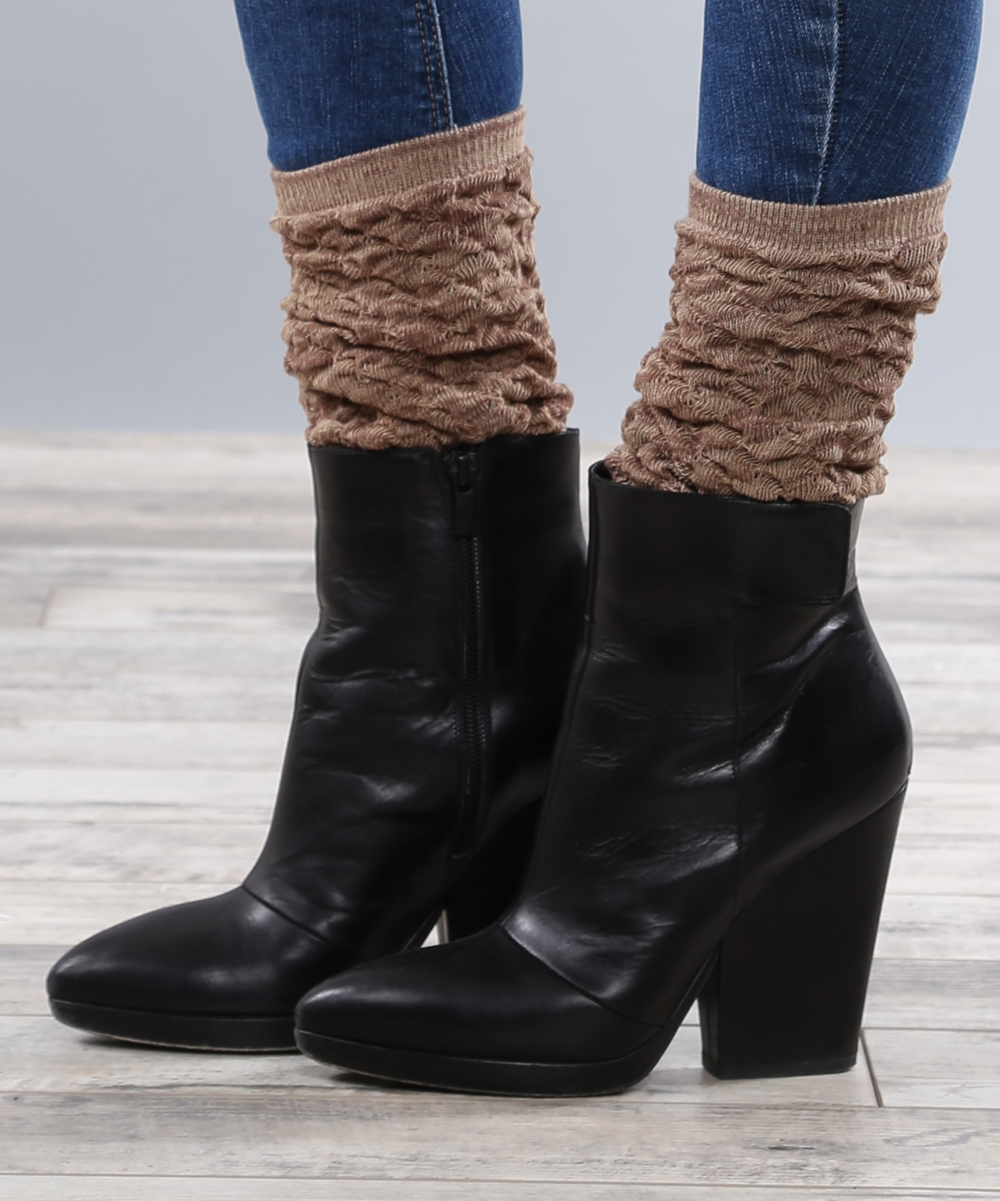 coco and brown ruched boot socks zulily