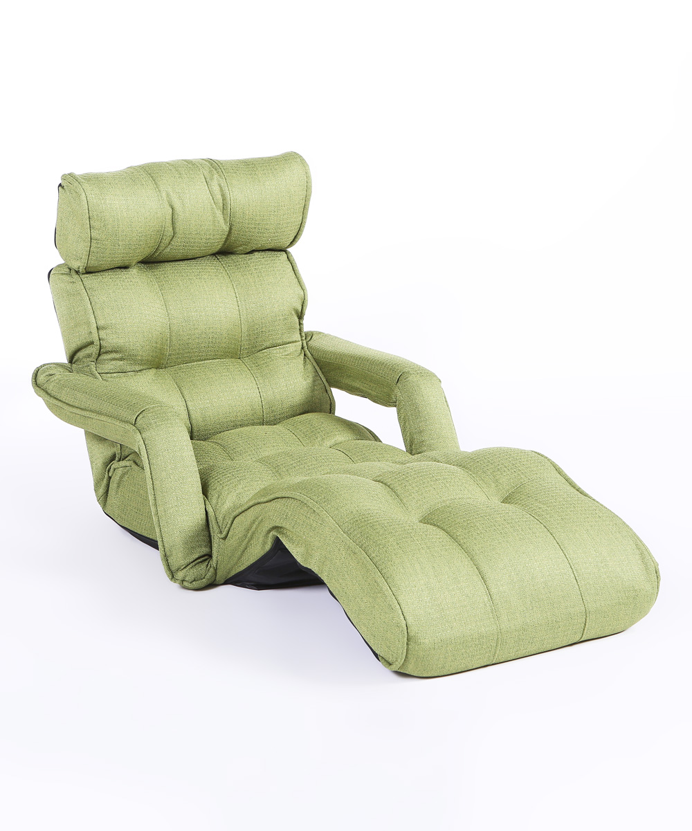 Cozy Kino Green Three Position Recliner Chair Armrests