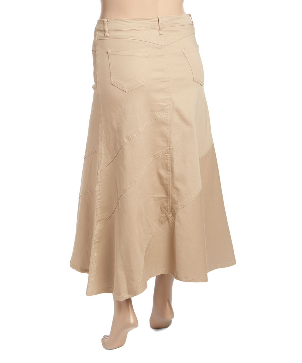 be clothing khaki a line skirt plus zulily