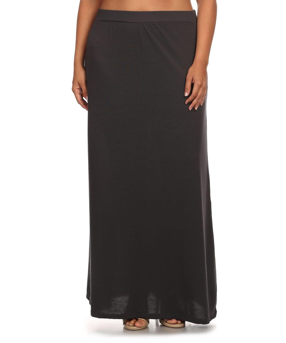 just miss black maxi skirt plus zulily
