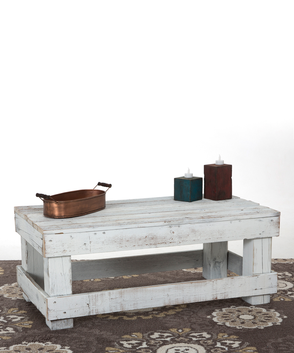 Delhutson Designs White Distressed Coffee Table Zulily