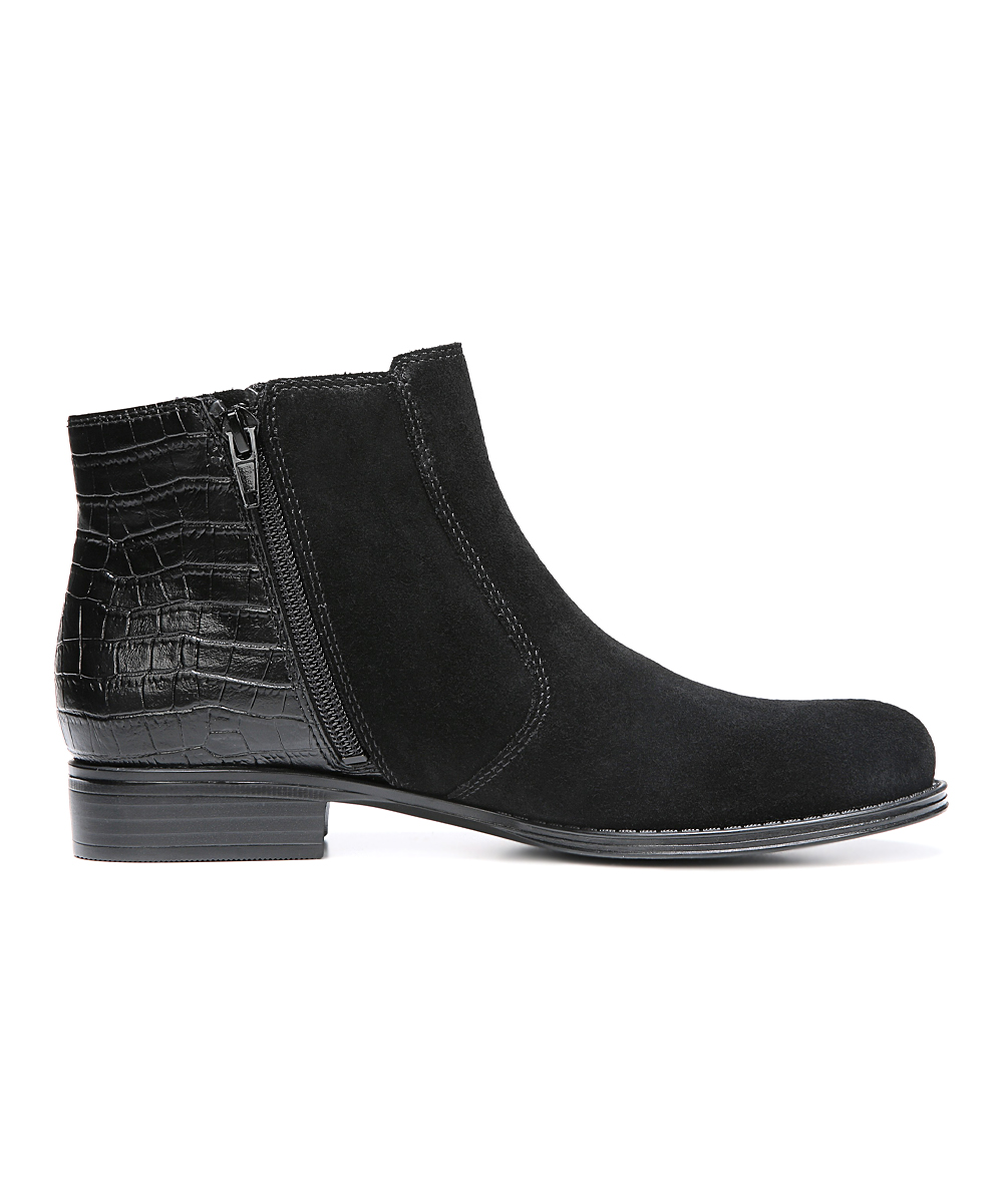 naturalizer black jump suede ankle boot zulily