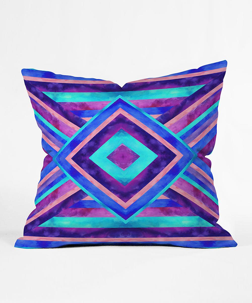 Turquoise And Purple Decorative Pillows : DENY Designs Turquoise & Purple Jacqueline Maldonado Sonata Throw Pillow zulily