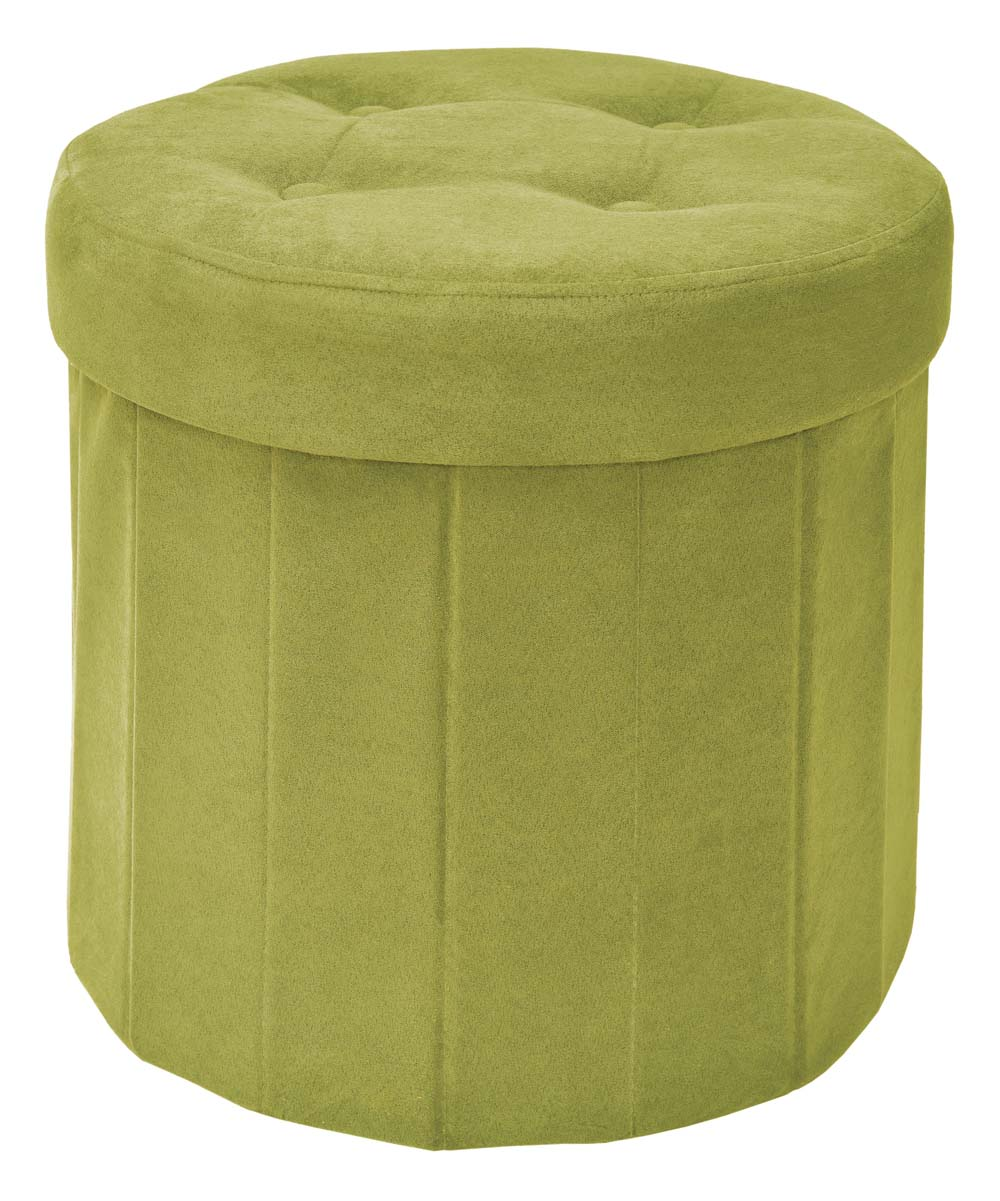 apple green round microsuede foldable storage ottoman zulily