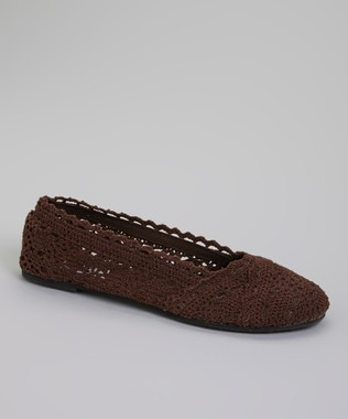 Ositos Shoes Brown Crochet Flat