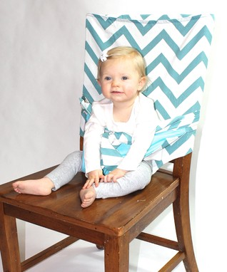 Teal Chevron Tie Chair