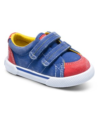 Blue & Red Halyard Hook & Loop Crib Sneaker