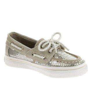 Silver Bahama Jr Boat Shoe