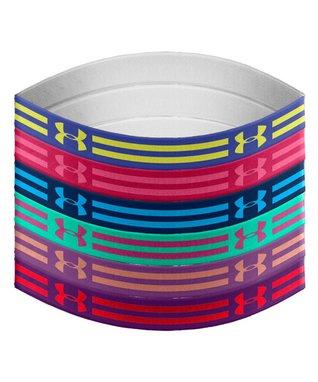 Blue Iris Graphic Mini Wrist Hairbands - Set of Six