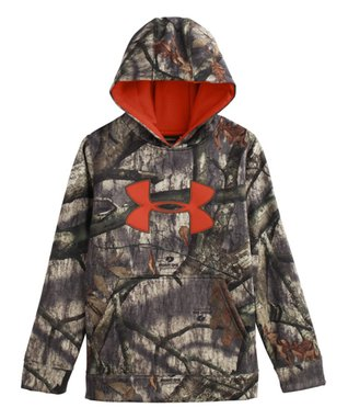 Mossy Oak Treestand Armour® Fleece Camo Big Logo Hoodie - Boys