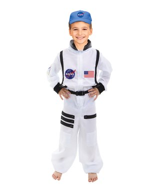 White Astronaut Dress-Up Set - Toddler & Kids