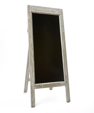 White-Framed Freestanding Chalkboard