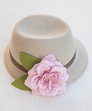 Stone & Pink Rose Fedora