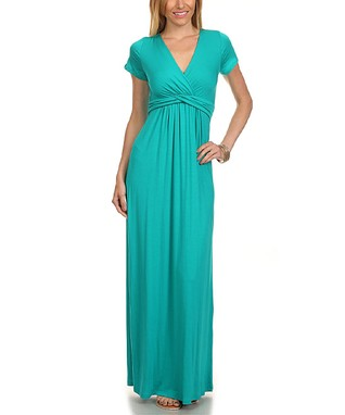 Jade Surplice Maxi Dress