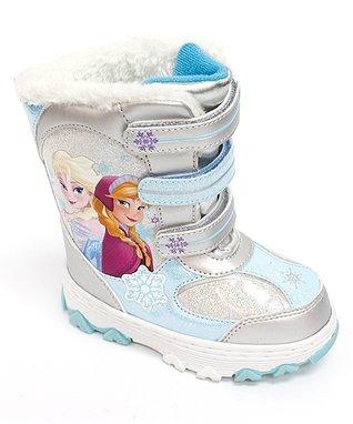 Frozen Silver & Blue Snowboots