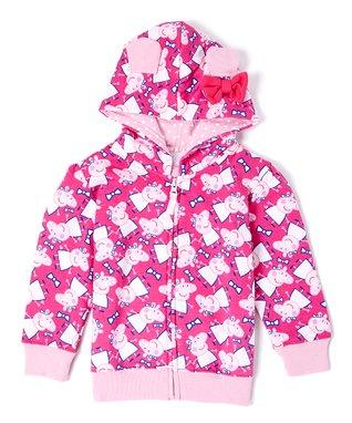 Pink Peppa Pig 3-D Ears Hoodie - Toddler