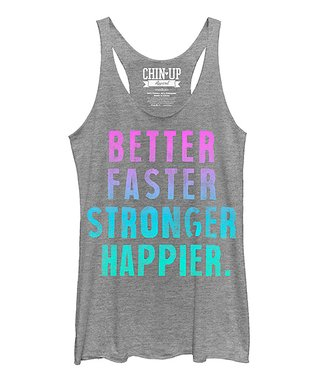 Gray Heather 'Better' Raw-Edge Racerback Tank