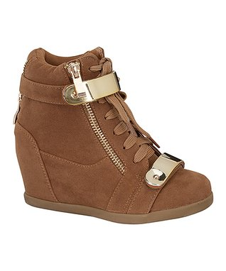 Tan & Gold Band Gladys Bootie