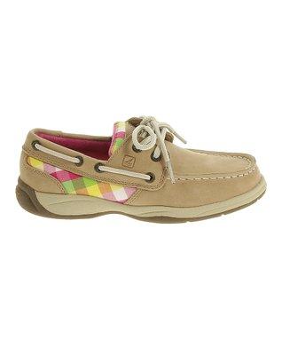 Linen Intrepid Leather Boat Shoe