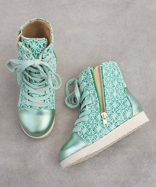 Spring Green Mila Sneaker - Kids