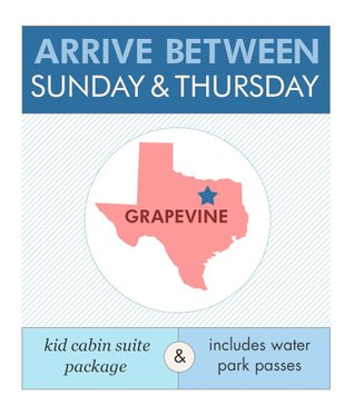 KidCabin Suite in Grapevine, TX, Sun-Thu, 10/7 to 12/18