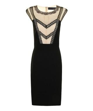 Cream & Black Lace Lori Dress