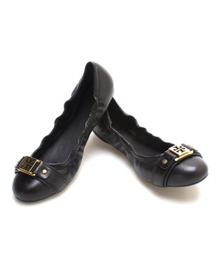 Black Ambrose Leather Ballet Flat