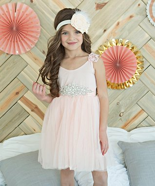 Pink Angel-Sleeve Ballerina Dress - Toddler