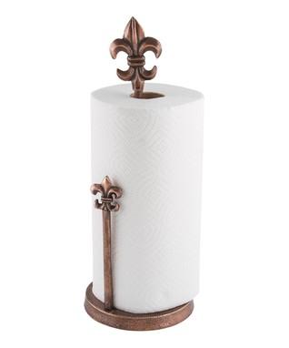 Fleur-de-Lis Paper Towel Holder
