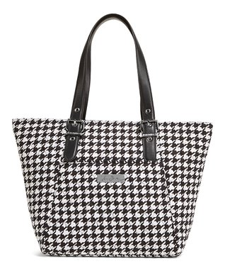 Midnight Houndstooth Be Colorful Tote