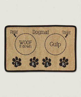 'Woof It Down' Burlap Place Mat