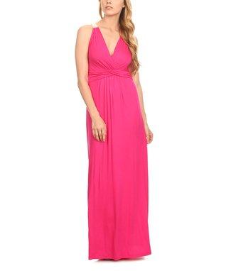 Fuchsia Wrap Maxi Dress
