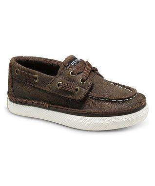Brown Cruz Jr. Leather Boat Shoe