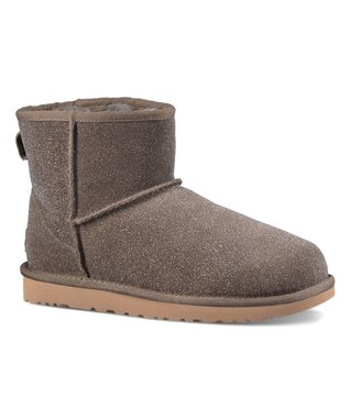 UGG® Stormy Gray Classic Mini Serein Suede Slipper Bootie