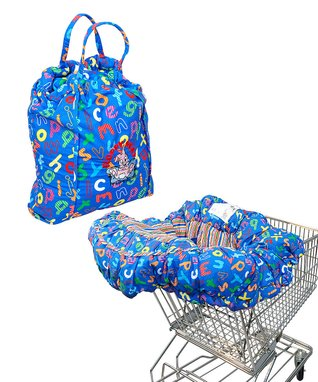 Blue ABC EZ Carry Shopping Cart/High Chair Cover
